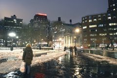 Union Square New York City in winter Stock Photo