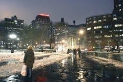 Union Square New York City in winter. Union Square during winter in New York City Stock Photo