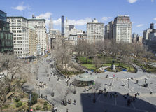 Union Square, New York. View from above Stock Photography