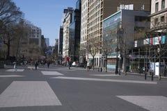Union Square NYC wczesny niedziela rano zdjęcie royalty free