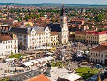 Union Square Oradea. Aerial view Stock Image