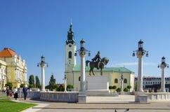 Union Square in Oradea, Romania. Royalty Free Stock Photos