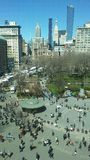Union Square på Sunny Sunday Morning i vår i Manhattan, New York, NY Royaltyfri Foto