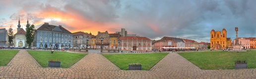Union Square panorama,Timisoara stock photos