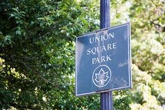 Union Square Park in New York Stock Photos