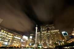 Union Square San Francisco. Nightlife and Traffic at Union Square San Francisco stock photos