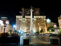 Union Square in San Francisco California. Night view on Union Square in San Francisco California Stock Photo