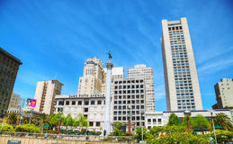Union Square in San Francisco on a sunny day Royalty Free Stock Photography