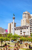Union Square in San Francisco on a sunny day Royalty Free Stock Photo