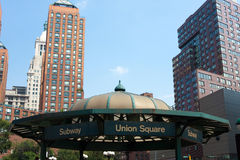 Union Square Subway Entrance Royalty Free Stock Photography
