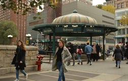 Union Square Subway Station NYC Street People City Urban Life stock photo