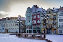 Union square, Timisoara. Historic buildings at union square, Timisoara, Romania Stock Photography