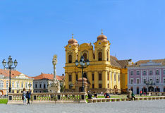 Union Square in Timisoara, Romania Stock Images