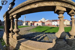 Union square , Timisoara, Romania. Union square is the main square of the ancient fortress of Timisoara Royalty Free Stock Image