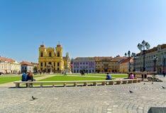 Union Square in Timisoara, Rumänien stockbilder