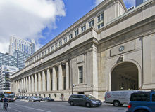 Union Station Chicago. May be used for a travel ad or transportation ad Royalty Free Stock Images