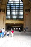 Union station chicago. Train, station, Amtrak, terminal, window, people, Brown Royalty Free Stock Images