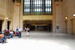 Union station chicago. Train, rail, road, Amtrak Royalty Free Stock Photography
