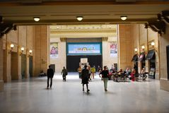 Union station chicago. Train,terminal, Amtrak, rail, road, Brown, restaurant Stock Photography