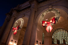 Union Station Christmas Wreath Stock Images