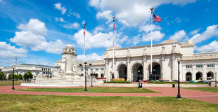 Union Station and the Colombus Fountain in Washington D.C. Royalty Free Stock Photos