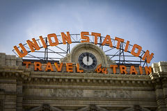Union Station in Denver Colorado. Union Station railroad train station in downtown Denver, Colorado Royalty Free Stock Images