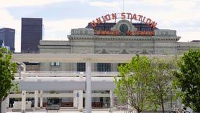 Union Station. Denver, Colorado, USA-September 7, 2015. Renovated Union Station in Downtown Denver, Colorado stock video footage