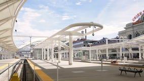 Union Station. Denver, Colorado, USA-September 7, 2015. Renovated Union Station in Downtown Denver, Colorado stock video