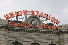 Union Station in Downtown Denver. Historic Union Station located in lower downtown Denver, Colorado Royalty Free Stock Photography