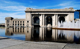 Union Station Front Downtown Kansas. City Reflection Royalty Free Stock Photo