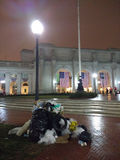 Union Station, Garbage Pile Following The 58th Presidential Inauguration, The Inauguration of Donald Trump, Washington, DC, USA Stock Images