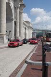 Union Station. An image of taxis in line at Union Station in Washington DC royalty free stock photos