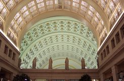 Union Station Interior. Photo of the Union Station interior in Washington D.C.  This train station fell into disrepair many years ago and then was refurbished Royalty Free Stock Image