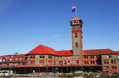Union station Portland Oregon. The Union station train station building in downtown Portland OR Stock Photos