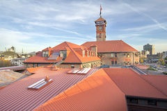 Union Station in Portland Oregon. Against Blue Sky Royalty Free Stock Photos