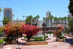 Union Station seen from Antonio Aguilar Statue Stock Images
