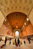 Union Station. TORONTO, April 14: Union Station, iconic historic building in Beaux-Art style, has been the biggest and busiest railway terminal in Canada since Royalty Free Stock Images