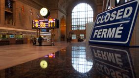 Union Station. TORONTO, April 14: Union Station, iconic historic building in Beaux-Art style, has been the biggest and busiest railway terminal in Canada since Royalty Free Stock Image