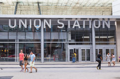 Union Station in Toronto stock photos