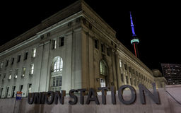 Union Station Toronto Night stock image