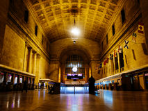 Union Station Toronto Night. The interior of Union Station in Toronto, Canada Royalty Free Stock Photography