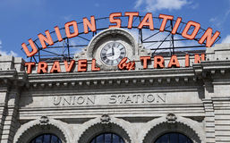 Union Station - Travel by Train Sign Stock Photography