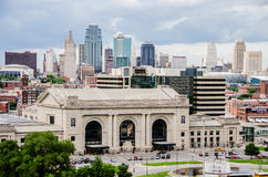 Union Station and view of downtown Kansas City. Stock Photography