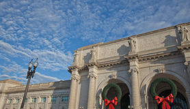 Union Station, Washington, D.C., at Christmas Time Royalty Free Stock Images