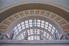 Union station, Washington dc. Union station, Washington dc, with statue and curved window Stock Images