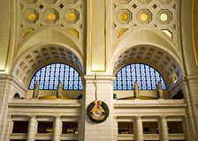 Union Station - Washington DC. Part of the huge Main Hall at Union Station in Washington, DC.  This is a major Amtrak rail station.  The main hall is adorned Royalty Free Stock Image