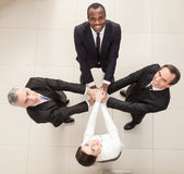 Union of successful businesspeople. Royalty Free Stock Images