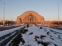 Union Terminal. Cincinnati Union Terminal in wintertime, sunrise Stock Image