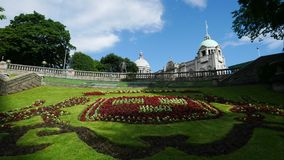 Union Terrace Gardens in Aberdeen Scotland United Kingdom. On Sunny Day Timelapse stock video footage