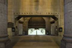 Union train station entrance Royalty Free Stock Photo